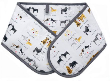 Delightful Dogs Cotton Oven Gloves